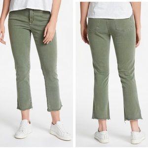 Nydj sheri slim ankle topiary olive green jeans